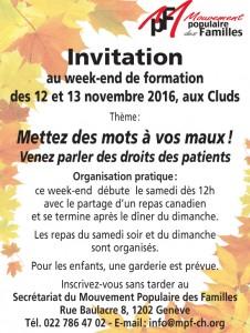 invitation week-end nov. 2016